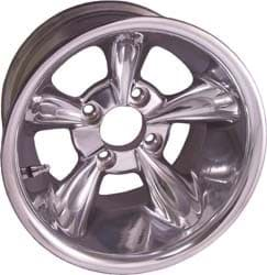 Picture of Wheel, 12x8 godfather, Polished, 3+5 offset. Center cap included