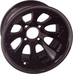 Picture of Claw, 10x7 Painted Black wheel with 3+4 offset. Includes center cap 40997