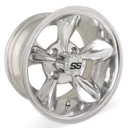 Picture of 10x7 Godfather Polished Wheel W/SS Cap (3:4 Offset)