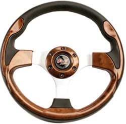 "Picture of 12.5"" steering wheel kit with black adapter, regal burl"