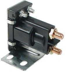 Picture of 12-volt, 4 terminal #120 series solenoid with silver contacts
