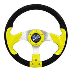 "Picture of Madjax 13"" yellow razor steering wheel"